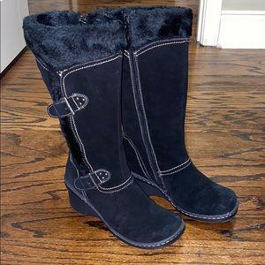 BareTraps Kathy Heeled Tall Fur Boots
